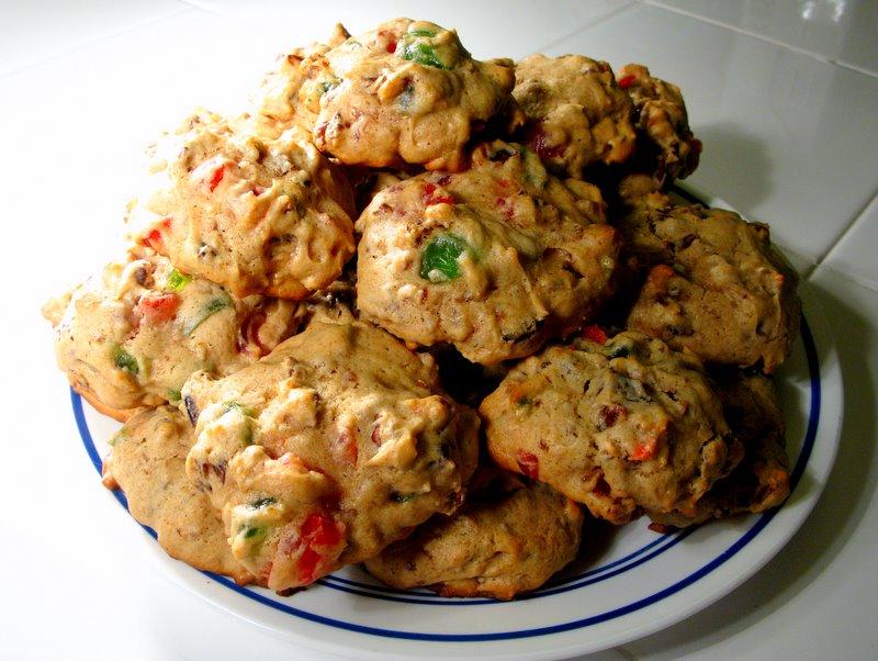 Bourbon fruitcake cookies butter beans cornbread